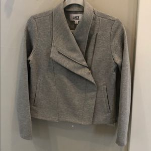 Grey Knit Moto Type Jacket